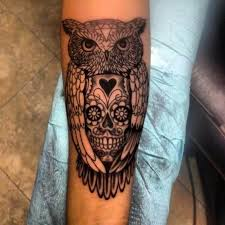 thigh tattoos for guys sugar skull owl tattoo design meaning http tattooideastrend