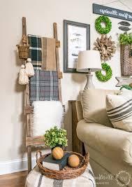 Home Decor Diy Crafts by Living Room Rustic Decorative Ladder The Creative Corner Diy