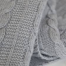 personalised grey cable knit blanket my 1st years