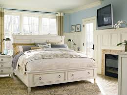 captivating design ideas using white loose curtains and superb decorating ideas using rectangular white wooden nightstands and round brown rugs also with rectangular white