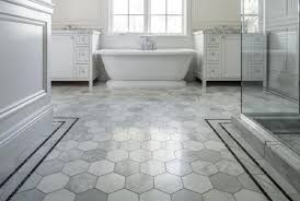 bathroom flooring ideas the picture shows a large version of hexagon tile bathroom