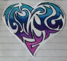 drawn hearts tribal heart pencil and in color drawn hearts