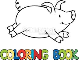 pig coloring book vector art thinkstock