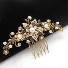 antique hair combs bridal hair comb antique brass hair comb wedding hair comb