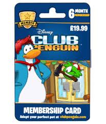 club penguin gift card image membership card march 2013 custom png club penguin wiki