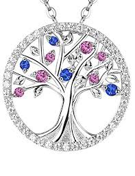 pink pendant necklace images The tree of life jewelry pink blue sapphire necklace jpg