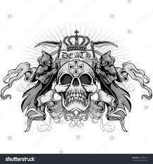 gothic coat arms skull grungevintage design stock vector 453658510 gothic coat of arms with skull grunge vintage design t shirts