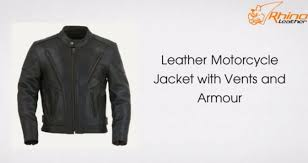 armored leather motorcycle jacket leather motorcycle jacket with vents and armour youtube