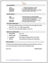 Best Resume For Mechanical Engineer Fresher by Resume Template Of A Computer Science Engineer Fresher With Great