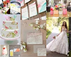 watercolor wedding decor inspiration