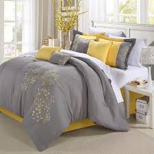 yellow and gray bedding that will make your bedroom pop geo floral grey and yellow bedding