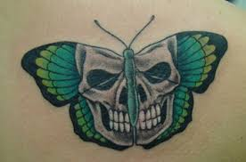 skull butterfly tattoos clipart library