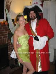 Unconventional Halloween Costumes Coolest Homemade Tinkerbell Captain Hook Couple Costumes