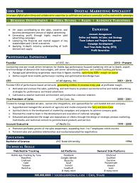 Marketing Resume Bunch Ideas Of Digital Marketing Sample Resume In Summary Sample