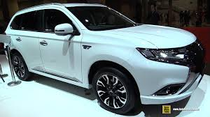 mitsubishi outlander 2016 interior 2016 mitsubishi outlander phev exterior and interior walkaround