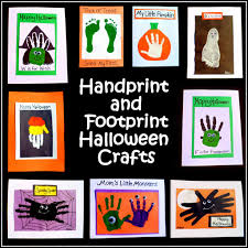 halloween fabric crafts easy halloween crafts handprint and footprint art feltmagnet