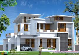square feet slanting roof mix home kerala home design floor sq