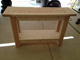 Pottery Barn Tool Bench Pottery Barn Inspired Console Table Addicted 2 Diy