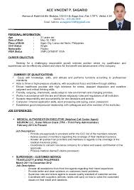 Sample Resume For Call Center Agent Applicant by Ace Curriculum Vitae
