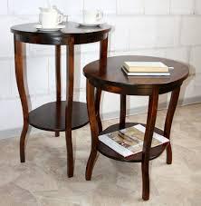 Wohnzimmertisch Kolonial Beistelltisch Teetisch Tisch Oval 75 Holz Massiv Kolonial