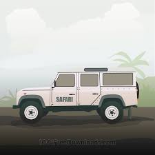 land rover defender vector free vectors safari truck nature