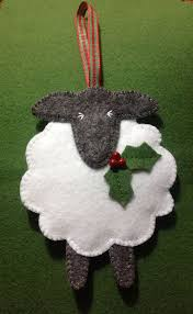 festive felt sheep ornament might to make one of