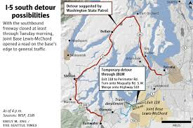 seattle map traffic amtrak derailment i 5 closed until tuesday at least alternative