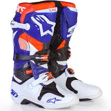 motocross boots new alpinestars mx 2017 le tech 10 indianapolis blue orange