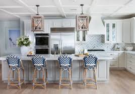 blue bar stools kitchen furniture gray island with navy bistro barstools cottage kitchen