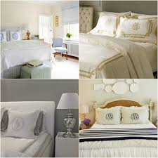 Headboard Covers Bedroom Awesome Decorative Monogrammed Bedding With Upholstered