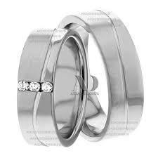 Matching Wedding Rings by Esther 6mm Wide Matching Wedding Ring Set Aida Designs
