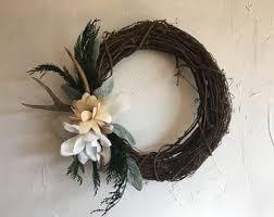 antler wreath etsy