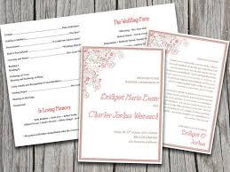 vow renewal program templates 13 best wedding programs images on wedding program