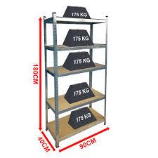 5 tier shelf large warehouse diy garage storage rack shelving unit