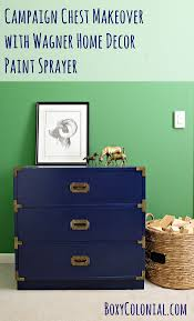 home decor paints campaign chest makeover with wagner home decor paint sprayer