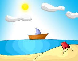 ** القارب والبحر **