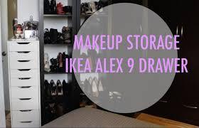 makeup storage ft ikea alex 9 drawer youtube