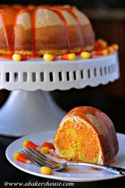 Halloween Decorations Cakes Candy Corn Bundt Cake Halloween Tasty Treats