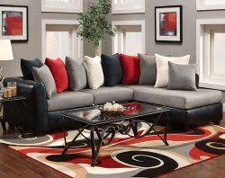 Black Sofa Sectional Get Yourself A Grey Leather Sectional Sofa And Enhance Your Living