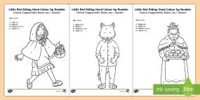 red riding hood sentence building cards english italian