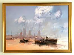 saatchi art seashore original oil painting impressionism one of a