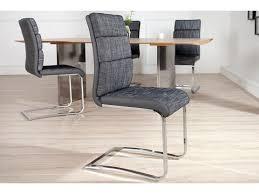 chaise simili cuir gris chaise design en tissu anthracite et simili cuir gris cavalier