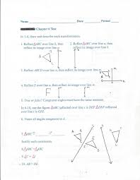 Glide Reflection Worksheet Geometry Common Core Style Chapter 6 Test Day 74