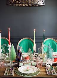 modern christmas table setting ideas snippet u0026 ink
