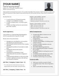 Resume Dates Financial Reporting Manager Resumes For Ms Word Resume Templates