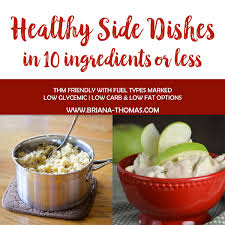 low glycemic thm healthy side dishes in 10 ingredients or less