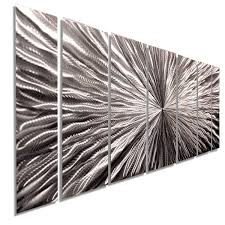 Metal Wall Decoration Radiant Velocity Xl Extra Large Silver Contemporary Metal Wall