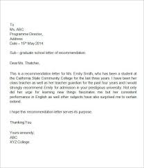 proper reference letter format template examples