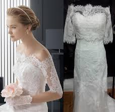 discount off shoulder lace jacket two piece 2014 a line wedding