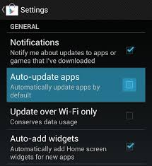 update android play store settings android applications